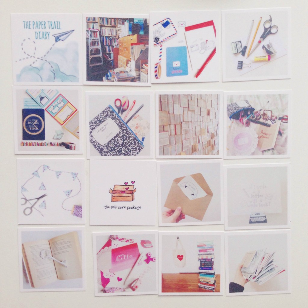 paper trail diary business cards