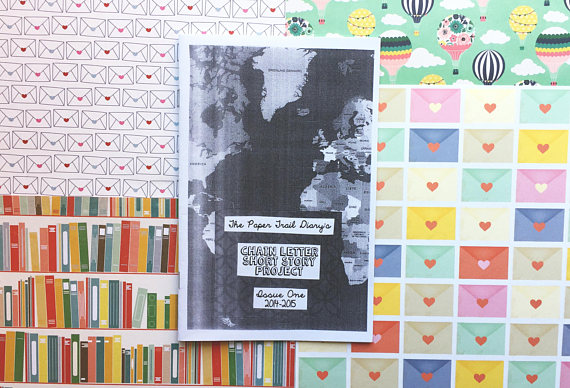 paper trail diary chain letter short story project zine 1