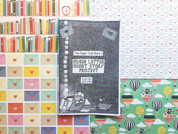 paper trail diary chain letter short story project zine 2