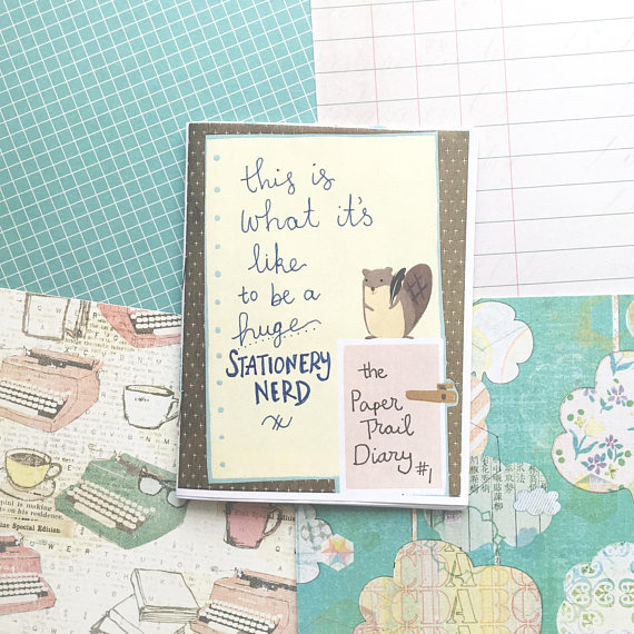 paper trail diary stationery nerd zine