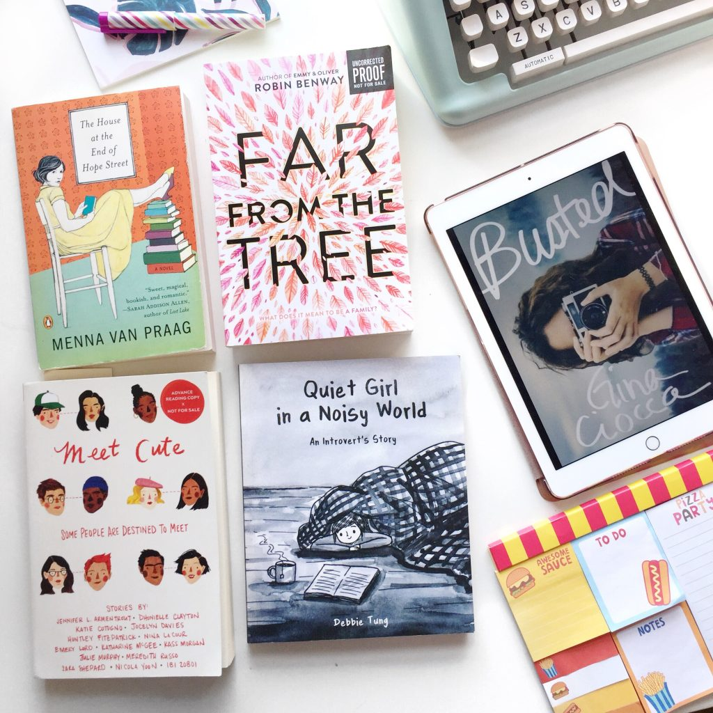 january reads on the paper trail diary