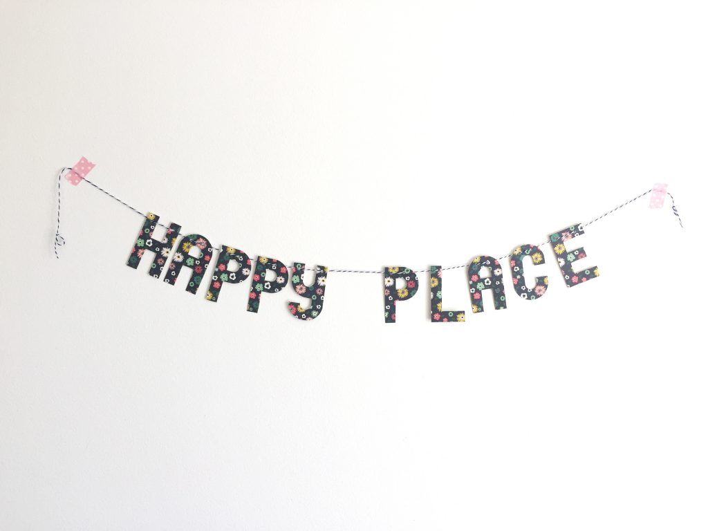 happy place banner paper trail diary