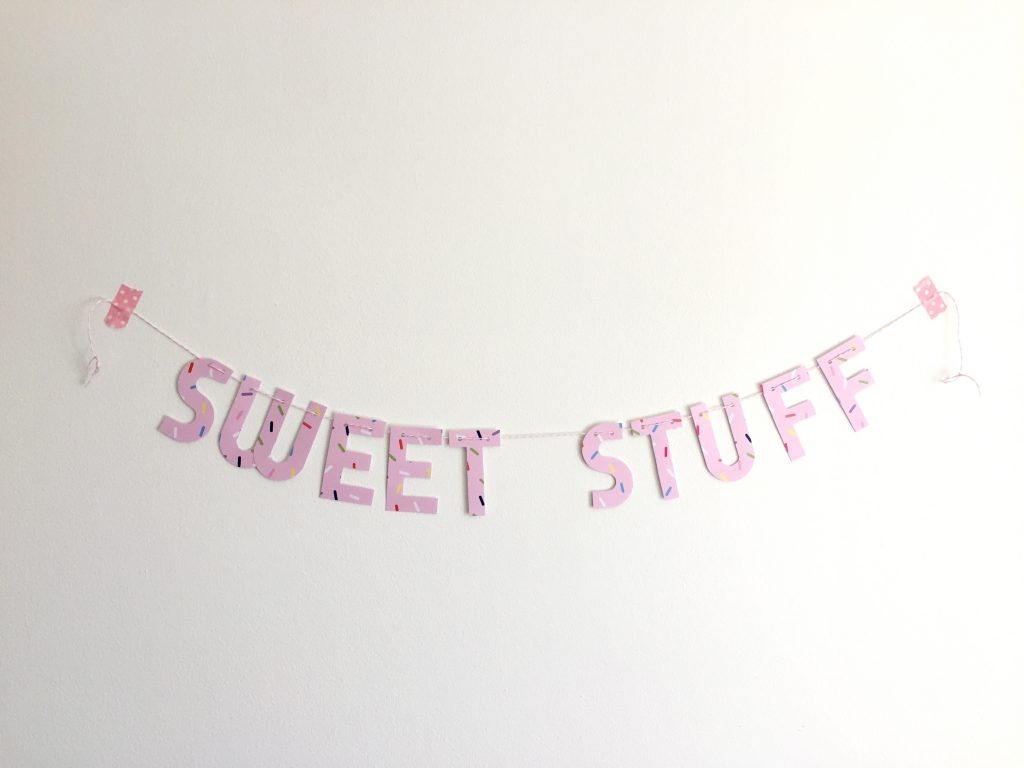 sweet stuff banner paper trail diary