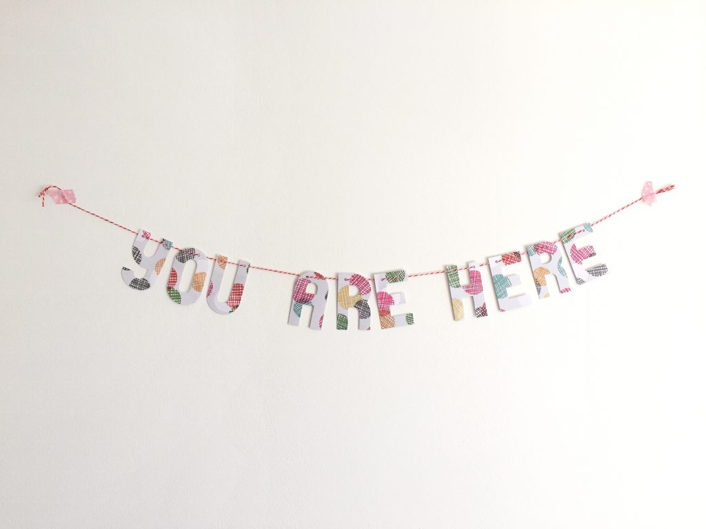 you are here banner paper trail diary