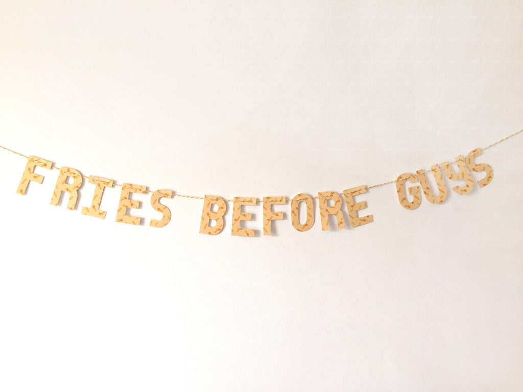 fries before guys banner - paper trail diary