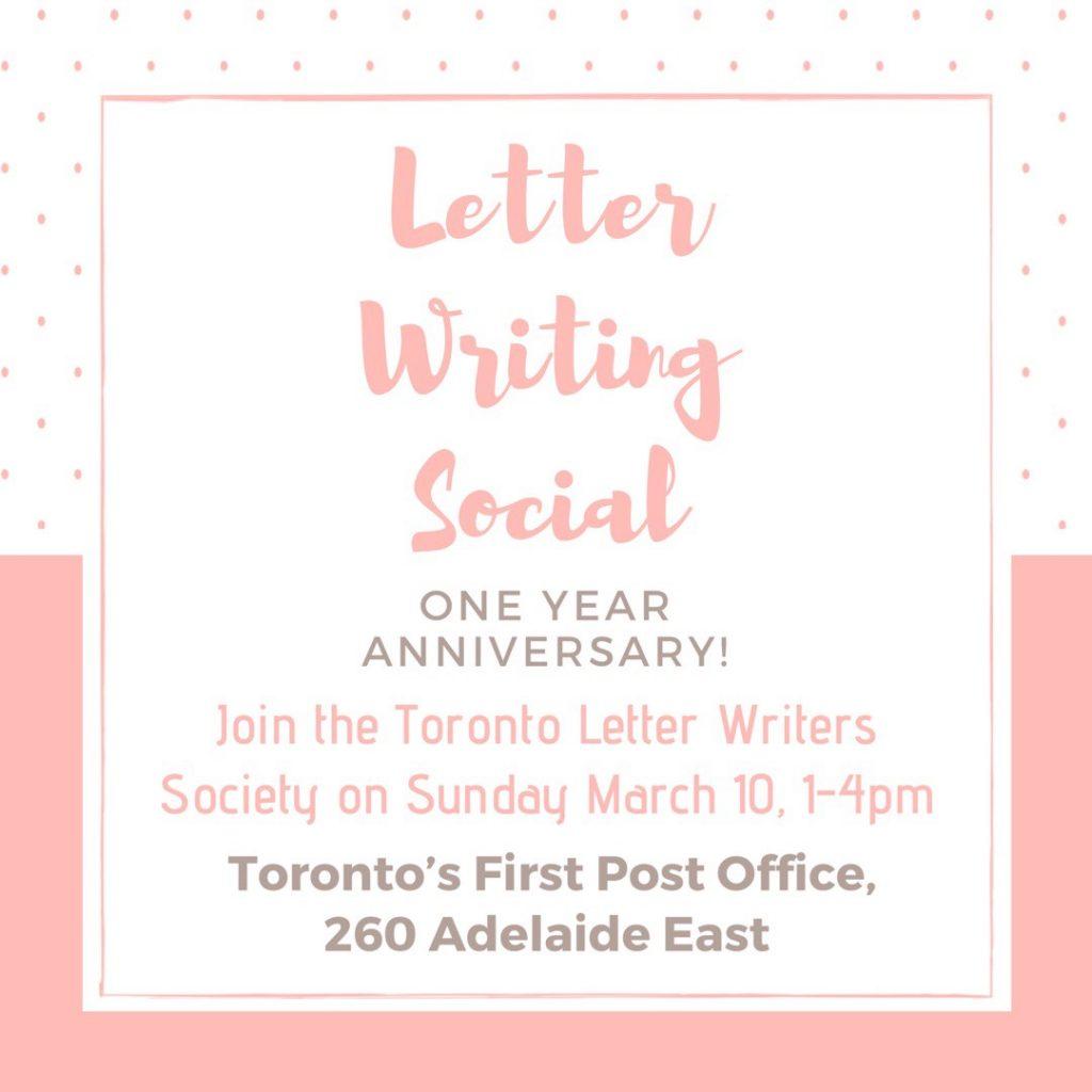 toronto letter writing social